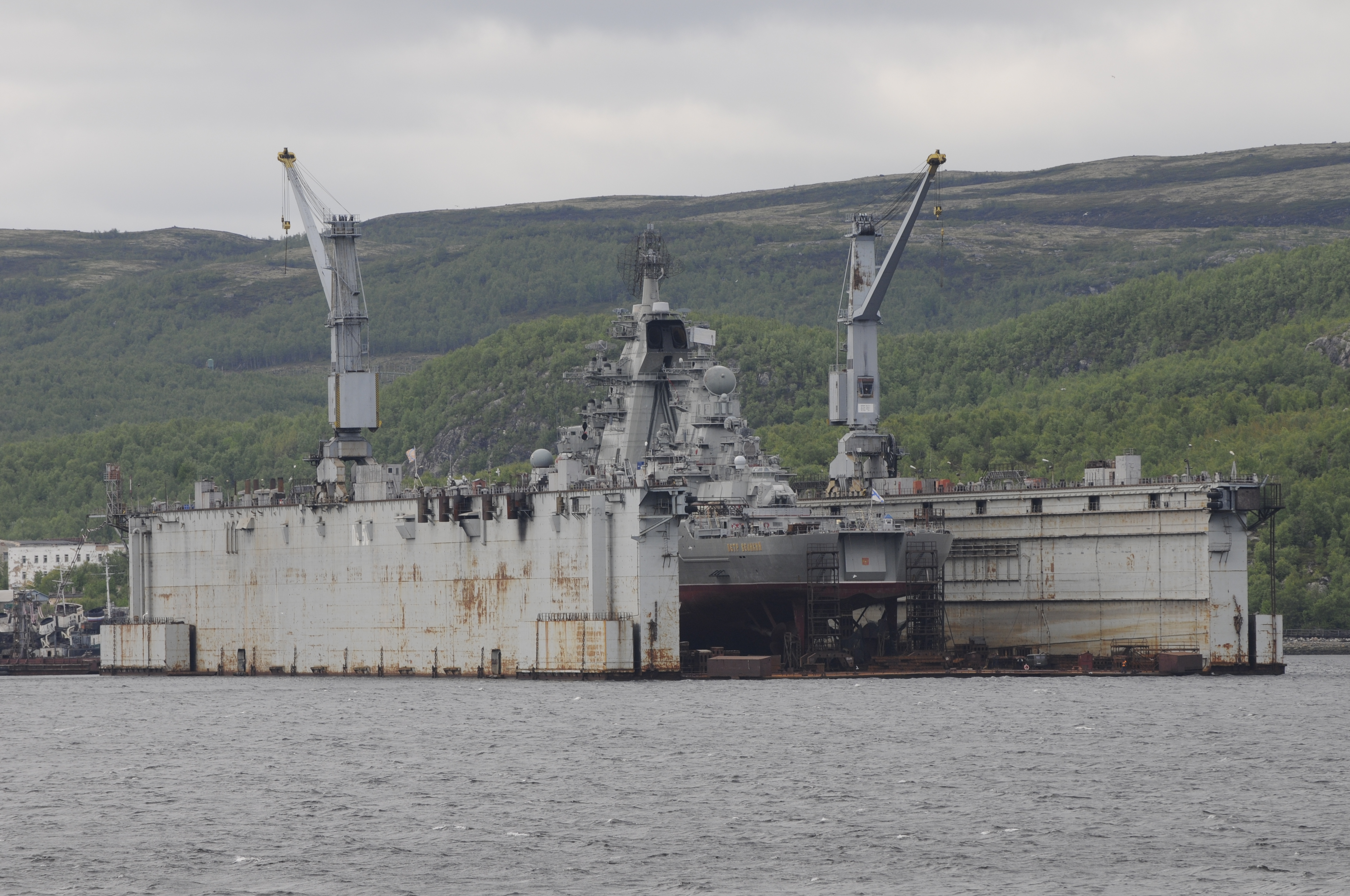Floating dock at Murmansk shipyard sinks, four people injured