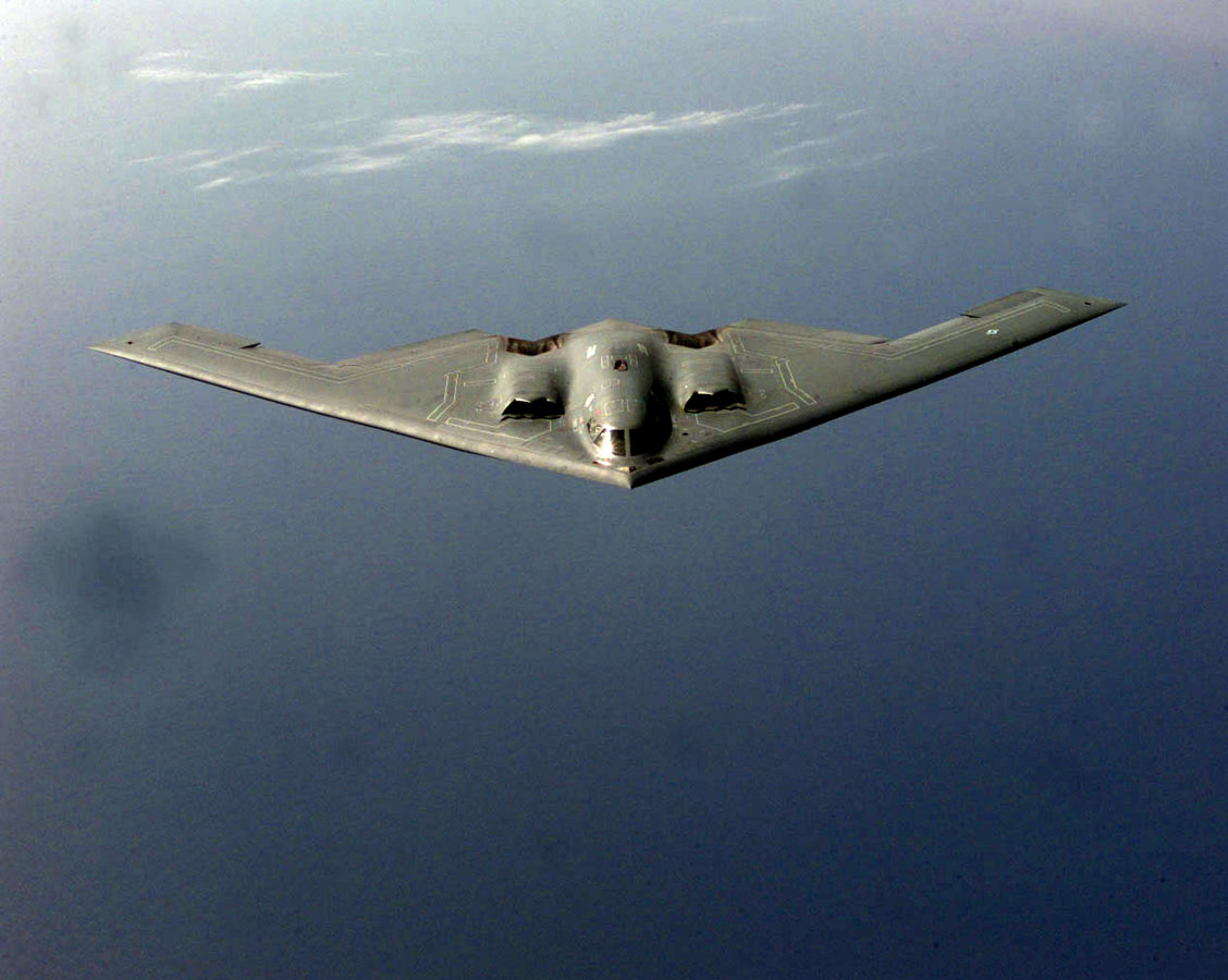 B-2 stealth bomber on first mission above Arctic Circle outside Norway