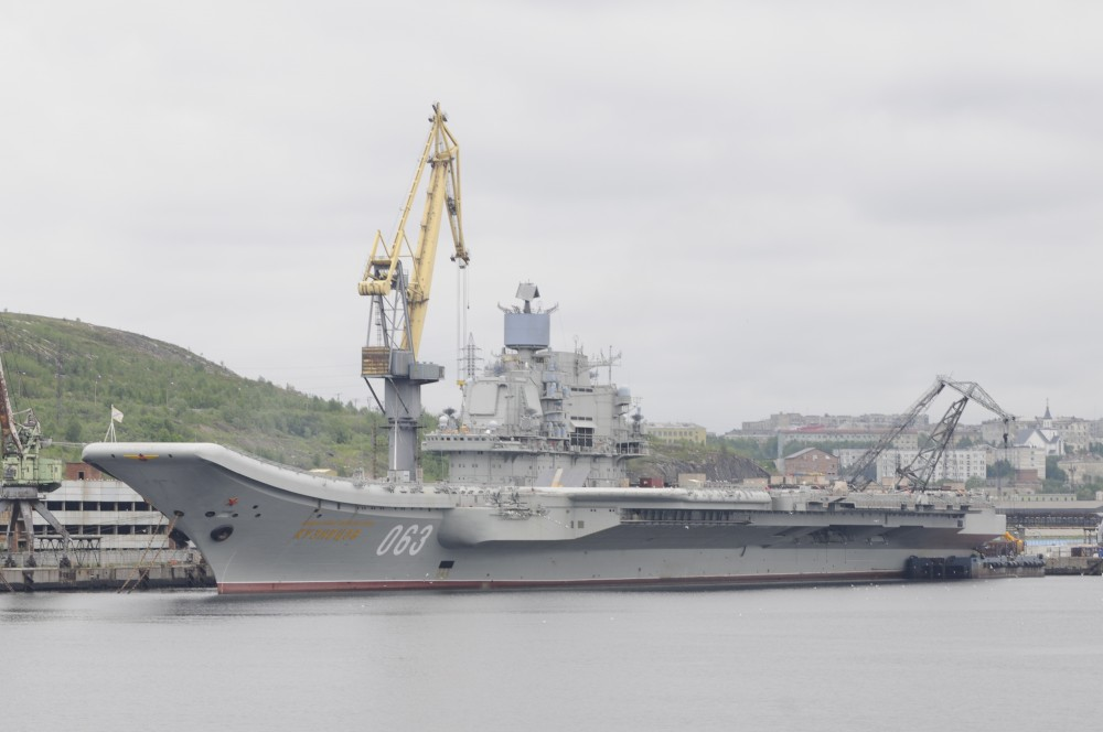 With the only Russian aircraft carrier has been a serious emergency