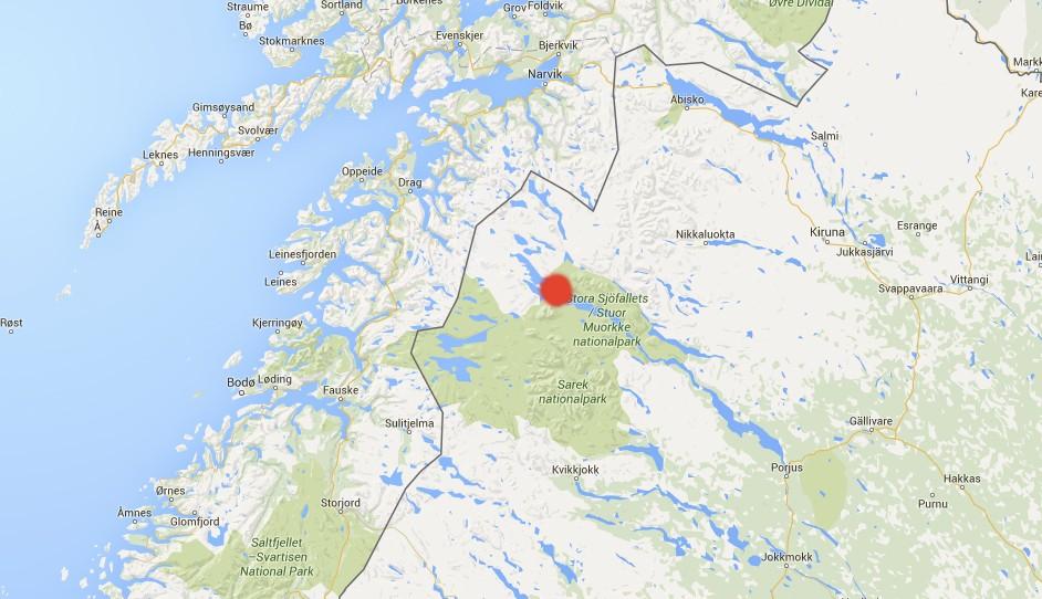 Post Plane En Route To Tromsø Crashes In Sweden The Independent - Jokkmokk sweden map