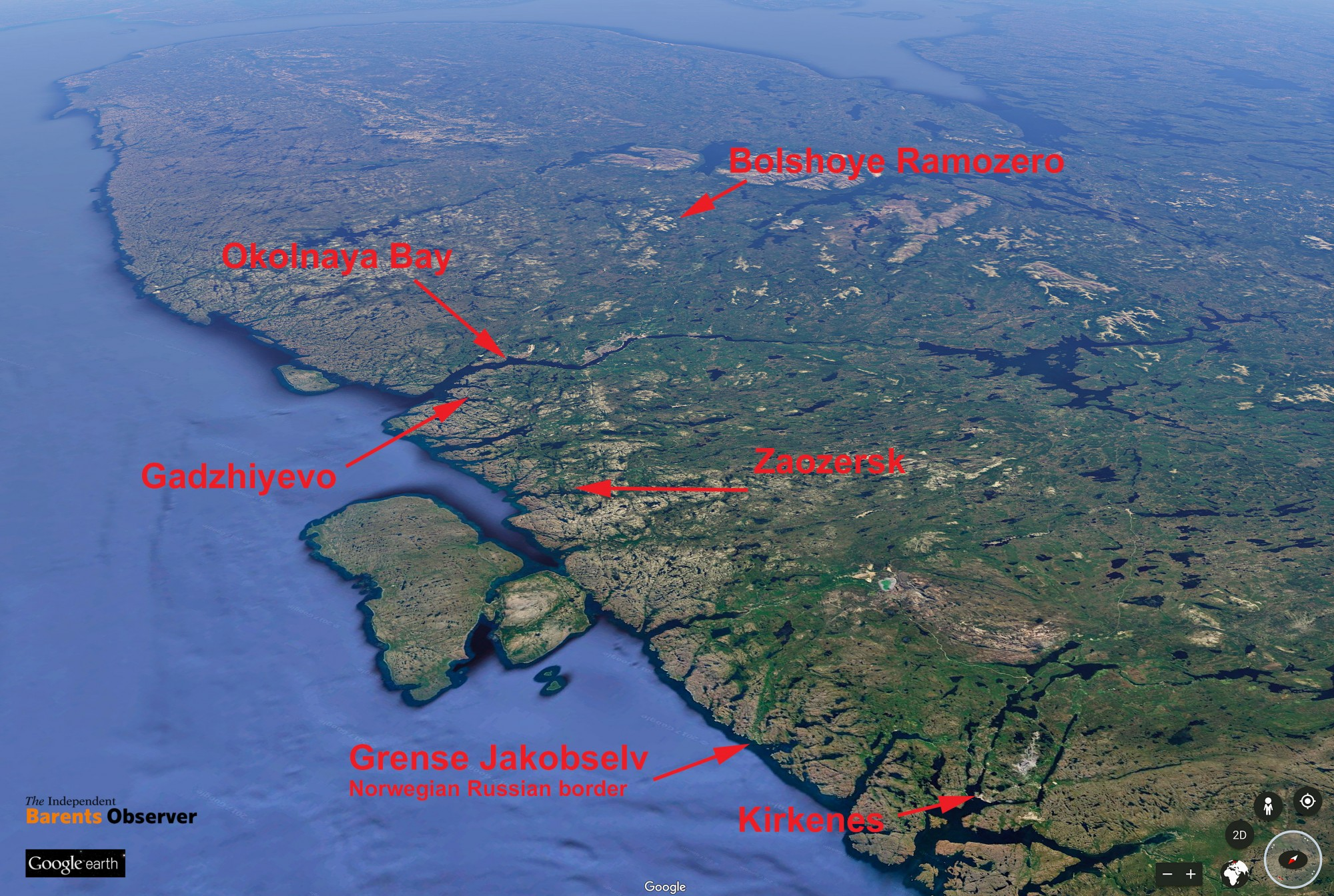 Satellite images show expansion of nuclear weapons sites on Kola ...