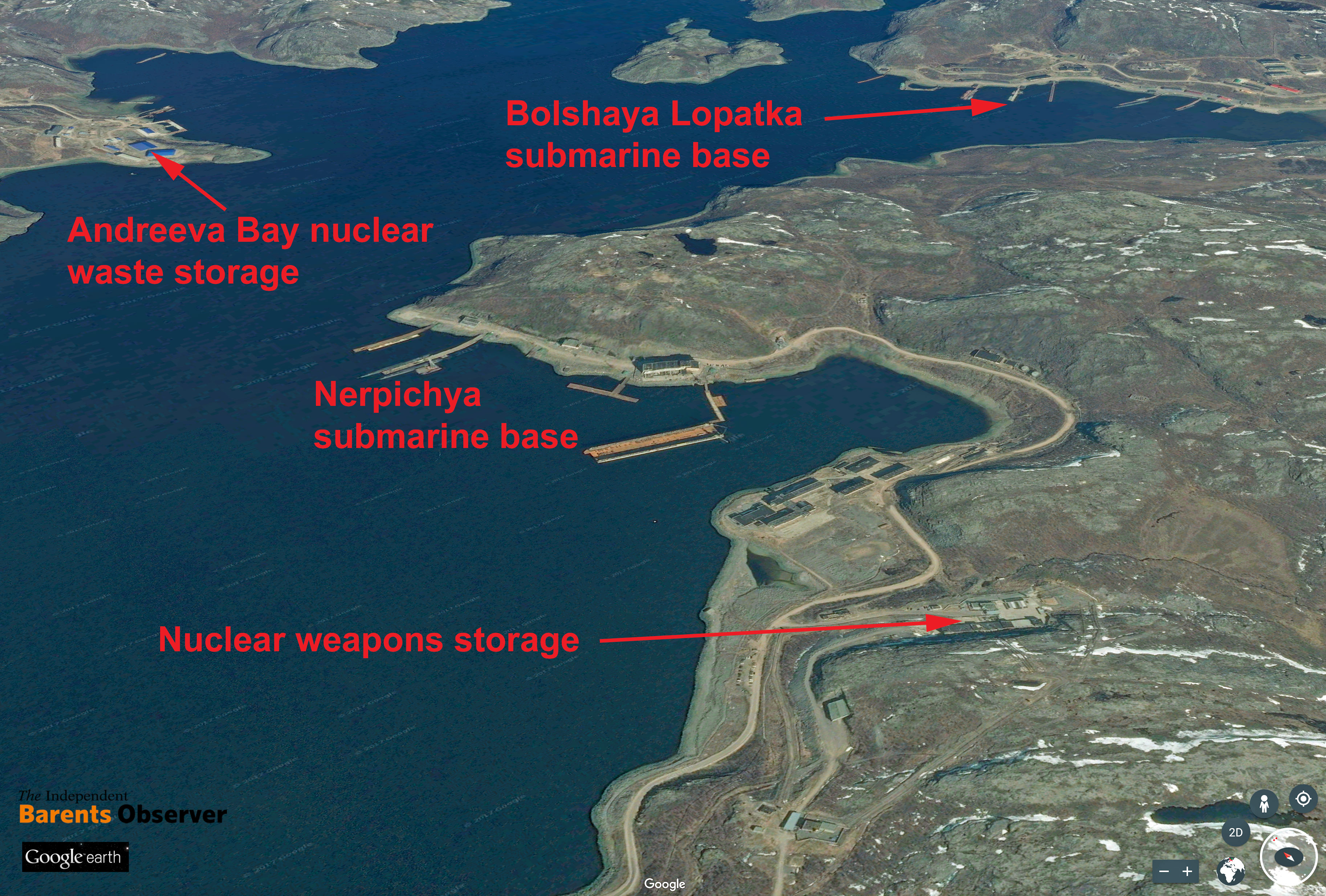 Satellite Images Show Expansion Of Nuclear Weapons Sites On Kola - Us nuclear arsenal map